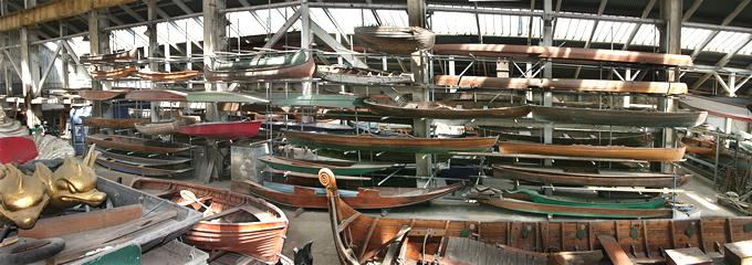 storing boats