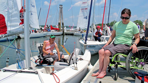 disabled people going sailing