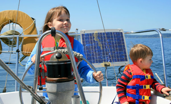 some children out sailing