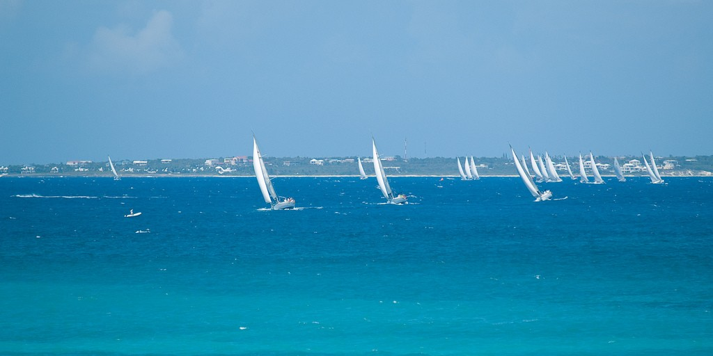 Sailing off Grand Case Beach CJ Peters
